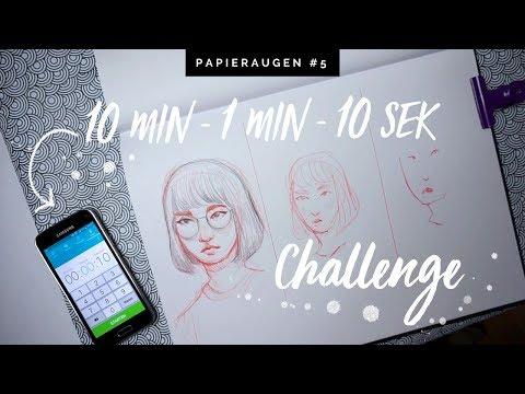 Skizzenbuch Herausforderung | 10 Minutes 1 Minute 10 Seconds Challenge