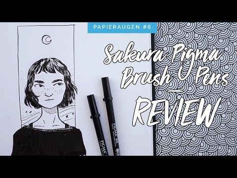 Sakura Pigma Brush Pen Set im Test | Review & Zeichnung