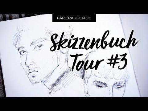 Skizzenbuchtour / Flipthrough #3 | Einen Monat Männer zeichnen