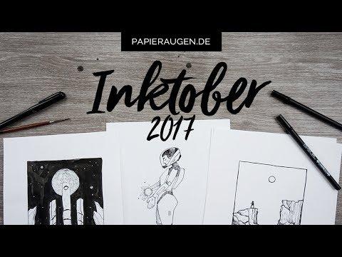 Meine 31 Inktober-Zeichnungen 2017 | Die Astronautin auf Reisen