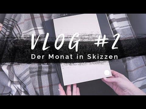 Vlog #2 | Der Monat in Skizzen: Januar '18 | Männer zeichnen, Favoriten & mehr