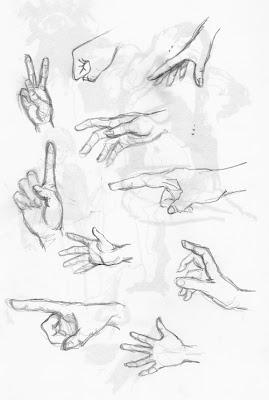 Übungskizzen Hände