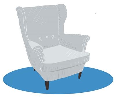 Digitale Illustration: IKEA Strandmon in grau