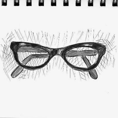 Skizze einer Brille