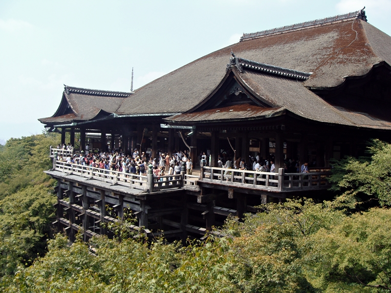 berühmter Blick Kiyomizudera Kyoto Japan