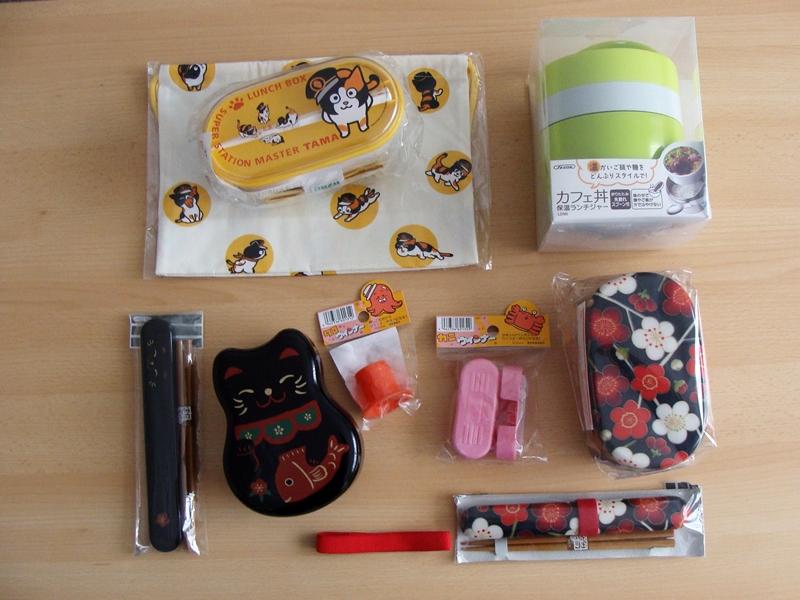 japanische Bentoboxen und Zubehör, Katzenmotive und Kirschblüten