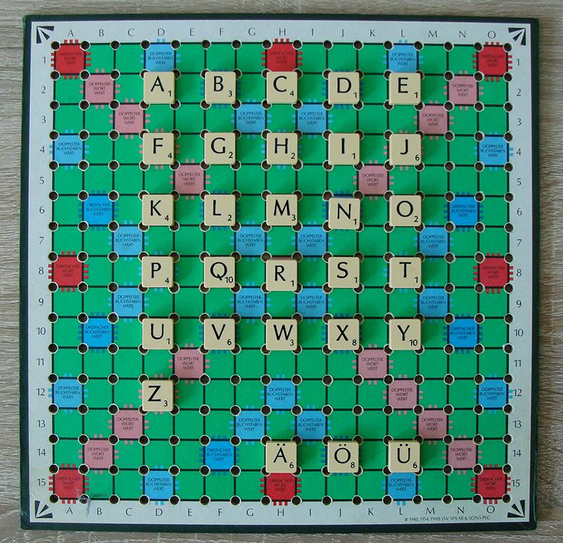 Scrabble Buchstaben und Punkte Deutsch Referenz