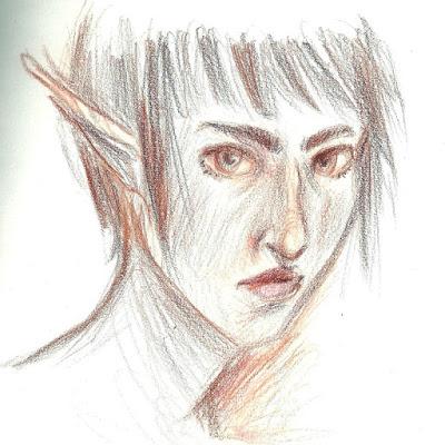 Skizze Elf