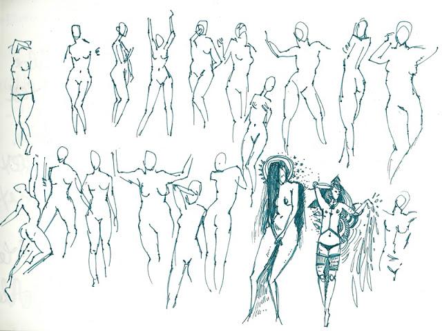 figürliches Zeichnen, Aktzeichnen, Skizzen, Aktskizzen