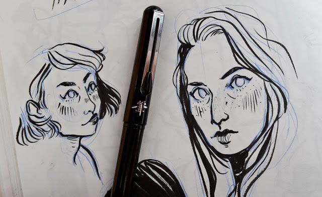 Skizzen mit Brushpen
