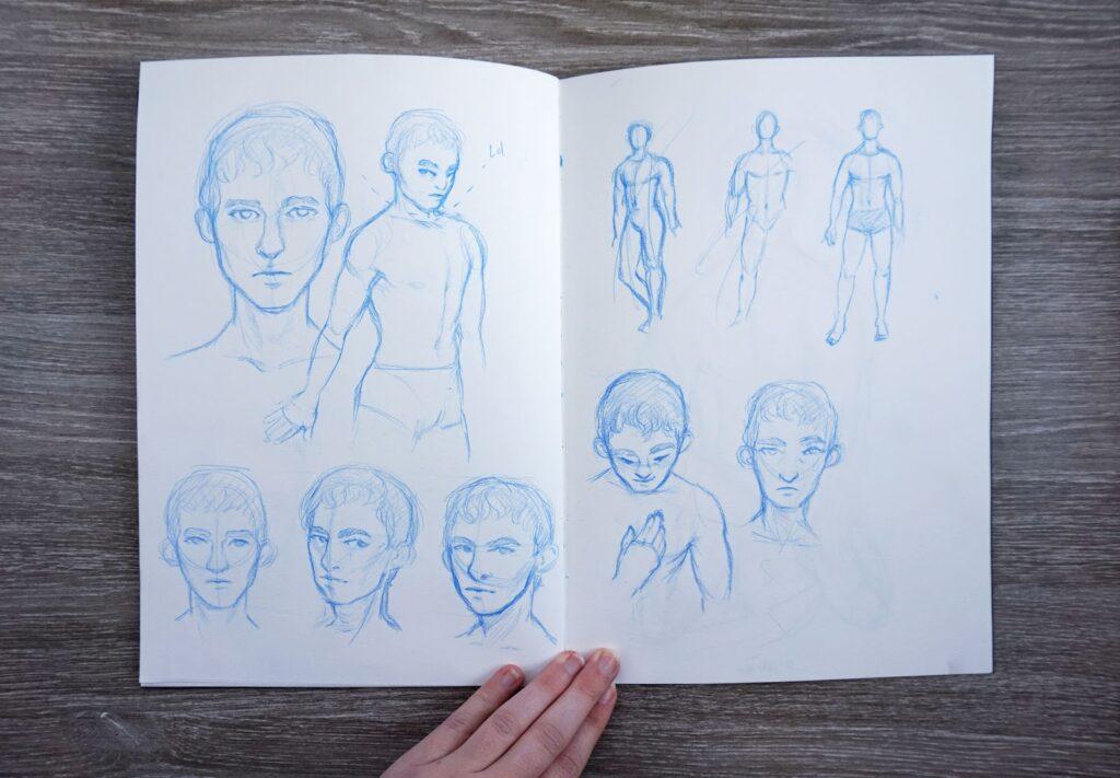 Skizzenbuchreport {Nr. 6} - Einen Monat Männer zeichnen