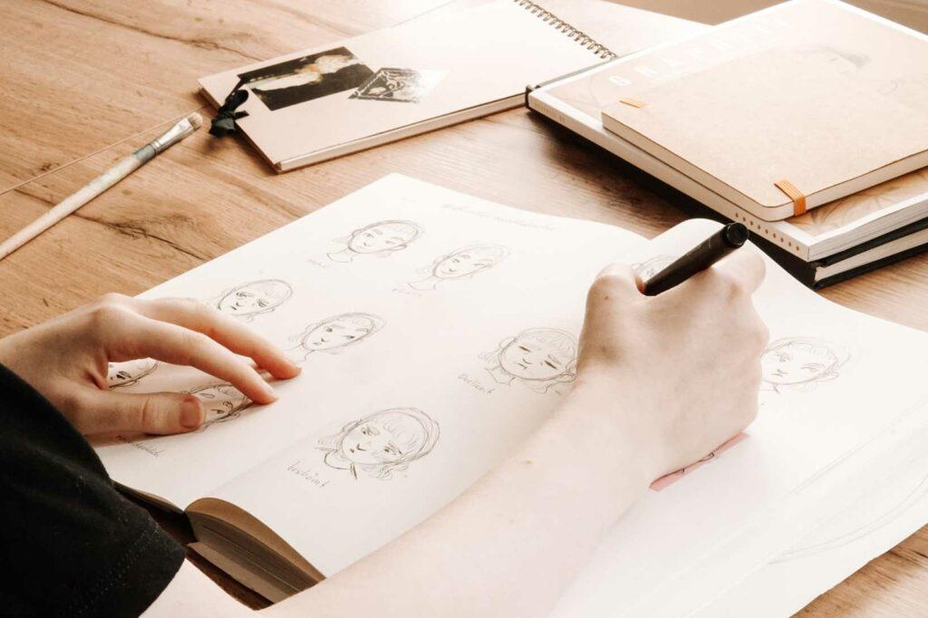 Übung zum Zeichenstil finden: Iteration