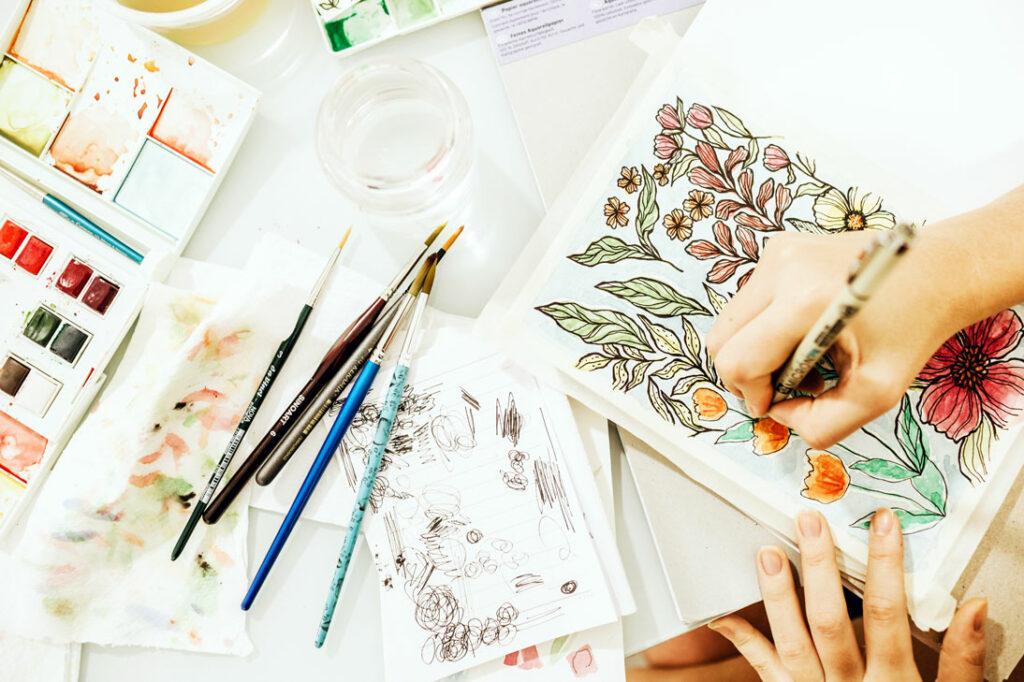 Täglich zeichnen üben im Skizzenbuch: besser werden mit nur wenigen Strichen pro Tag